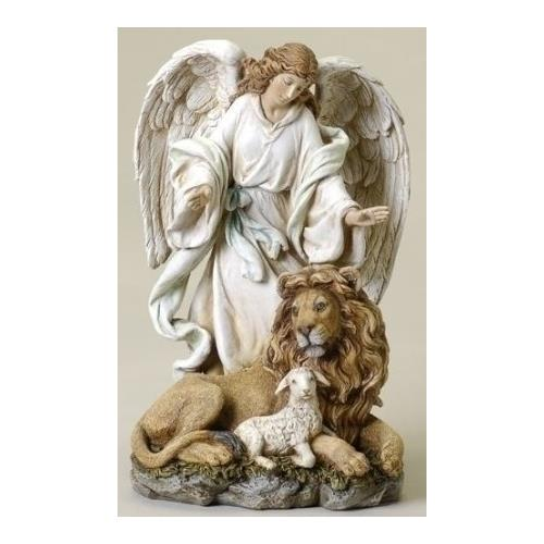 Angel Lion and Lamb Figurine Statue Resin Plastic Figurine excellent!