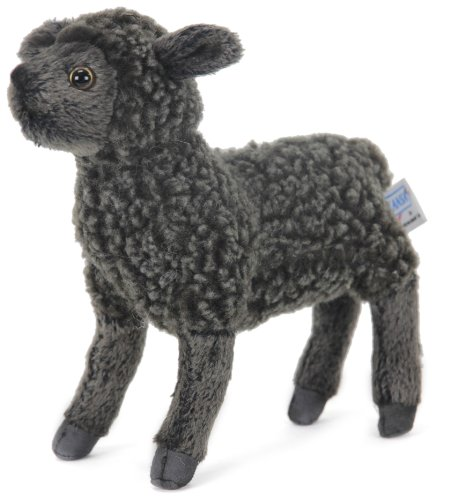 Hansa Little Lamb 7 Black Plush Toy Stuffed Animal Hand Crafted